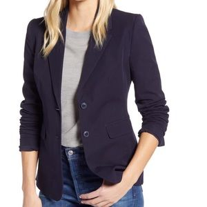 NWOT 1901 Stretch Cotton Twill Blazer Navy classic